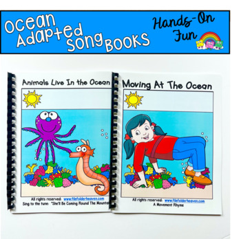 """Ocean Adapted Song Book--""""Animals Live In the Ocean"""""""