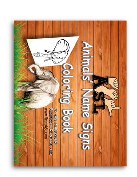 Animals Signs Name Coloring Book