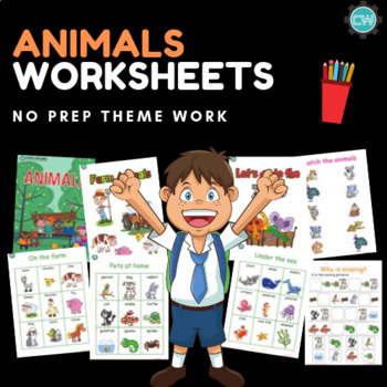Animals Worksheets (Kindergarten)