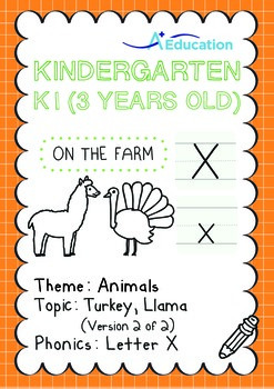 Animals - Turkey, Llama (II): Letter X - K1 (3 years old)