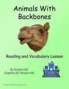 Animals With Backbones Song With Reading and Vocabulary Lesson