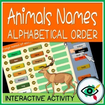 Animals alphabetical order