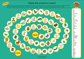 Animals and Insects Board Game