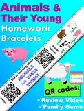 Animals and Their Young Bracelets with QR Codes {Kindergar