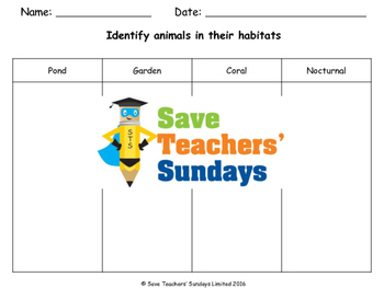Animals and their habitats (online activities) Lesson plan