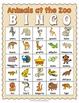 Animals at the Zoo Bingo Game