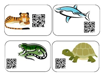 Animals from Eggs QR Activity