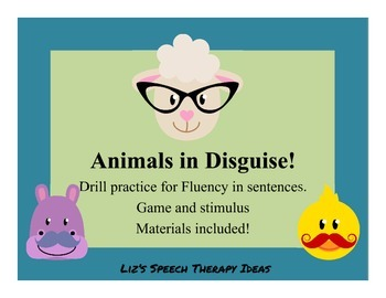 Animals in Disguise!  Stuttering modification practice in