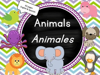 Animals in English AND Spanish with clip art