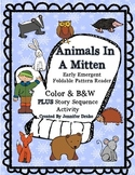 Animals in A Mitten Early Emergent Foldable Reader ~PLUS s