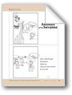 Animals of the Savanna: Take-Home Book