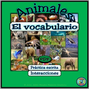 Animals of the World Vocabulary / Vocabulario de animales