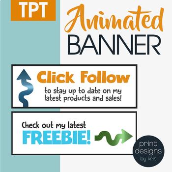 Animated Banner Design • TPT Banner Design • TPT Shop Makeover