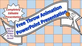 """Animated """"Free Throw"""" PowerPoint Background"""