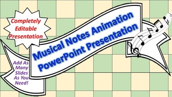 """Animated """"Musical Notes"""" PowerPoint Background"""