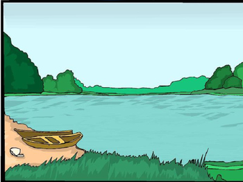 Animated PowerPoint Articulation Materials - Boat, Lake, P