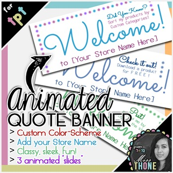 Animated Quote Box Banner - Gif for TpT Store