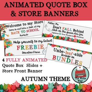 Animated Quote Box & Store Banners - AUTUMN THEME
