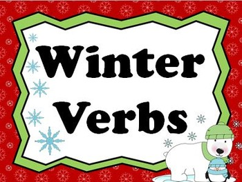 Animated Winter Verbs PowerPoint
