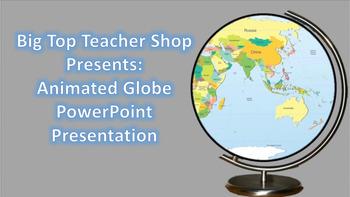 Animated World Globe PowerPoint Presentation Background an