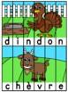 Animaux de la ferme - 23 puzzles - French animals