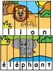 Animaux de la savane - 25 puzzles - French animals
