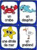 Animaux marins - Cartes de vocabulaire - French Ocean Animals