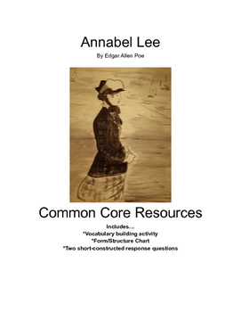 Annabel Lee Common Core Resources