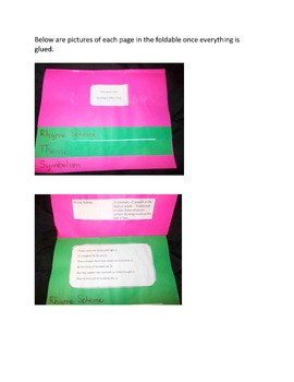 Annabel Lee Foldable & Vocabulary