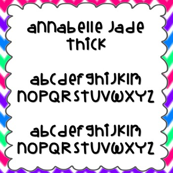 Annabelle Jade Thick Font {personal and commercial use; no