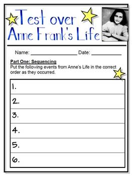 Anne Frank Assessment