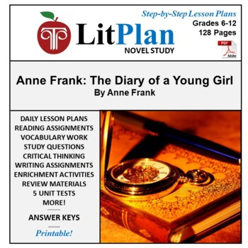 Anne Frank Diary of a Young Girl: LitPlan Teacher Guide -