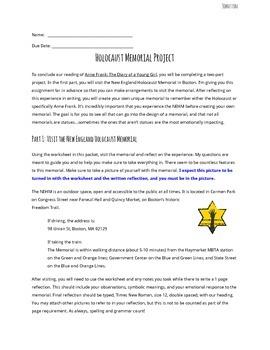 Anne Frank Holocaust Memorial Project (New England Holocau