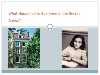 Anne Frank: Post Reading: What Happened to Everyone in the
