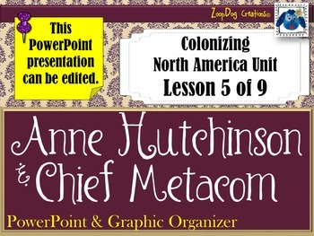 Anne Hutchinson Metacom's Rebellion PowerPoint and Graphic