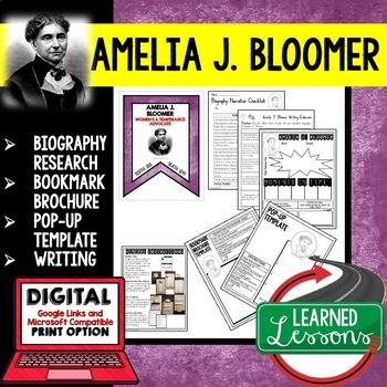Anne Sullivan Biography Research, Bookmark Brochure, Pop-U