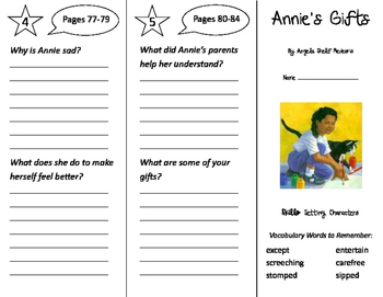 Annie's Gifts Trifold - Storytown 2nd Grade Unit 4 Week 2