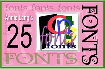 Annie's 25 Novelty Fonts Collection