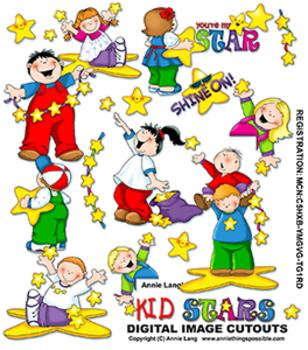 Annie's Kid Stars Clipart