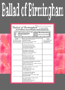 "Annotating & Analyzing ""Ballad of Birmingham"""