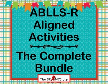 Announcing: ABLLS-R  ALIGNED ACTIVITIES The Complete Bundle
