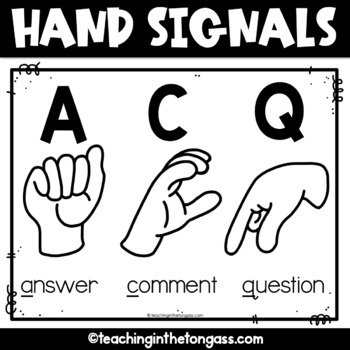 Hand Signals Poster Free