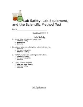 Answer Key to Scientific Method, Lab Safety, and Lab Equip