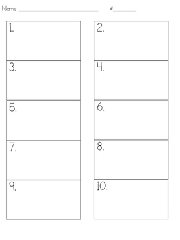 Answer Sheet- 10 Boxes