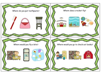 """Answering """"wh"""" question Bundle- who, what, where, and when"""