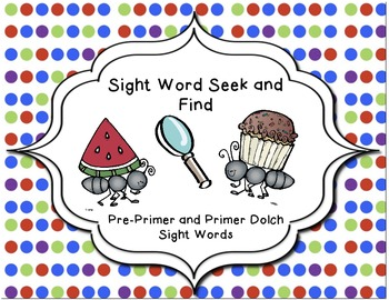 Ant Themed- Seek and Find with Sight Words