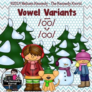 Vowel Variants: oo in Cool - oo in Cook {Anchor Charts, Ma