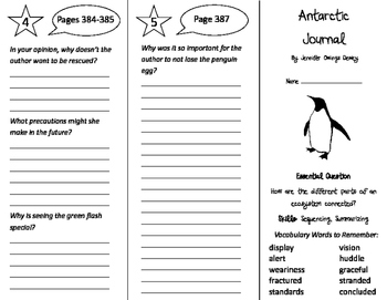 Antarctic Journal Trifold - Journeys 4th Grade Unit 3 Week