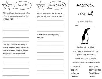 Antarctic Journal Trifold - Reading Street 4th Grade Unit