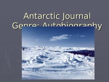 Antarctic Journal Vocabulary Power Point Reading Street 2011